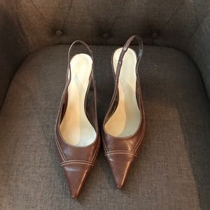 Nine West slingback pumps